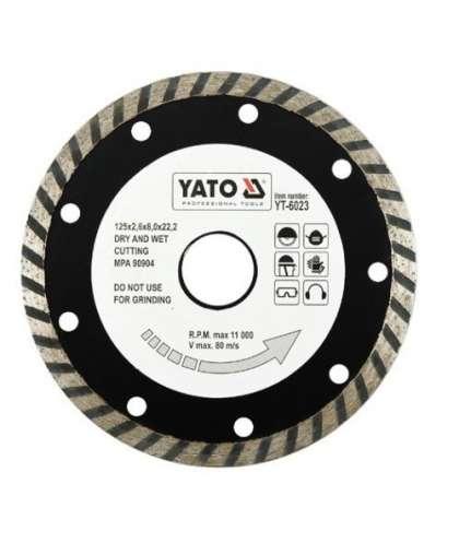 Алмазный круг Yato 125*22,2 турбо YT-6023
