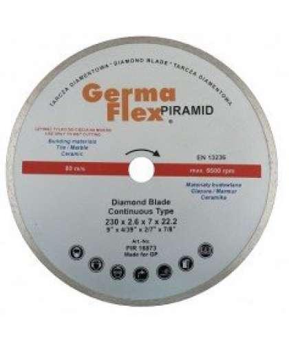 Алмазный круг Germaflex 230*2,6*6*22,2 для плитки Piramid Continuos