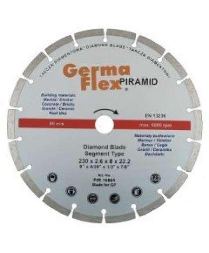 Алмазный круг Germaflex 230*2,6*7*22,2 сегментированный Piramid Segment