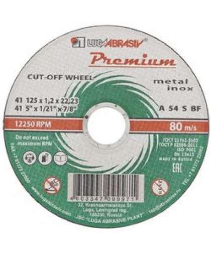 Диск зачистной Lugaabrasiv 125*6,0*22,2  по металлу Premium