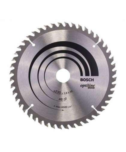 Диск пильный Bosch 235*30 48 зуба по дереву OPTILINE WOOD