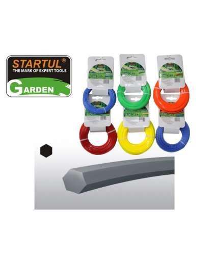 Леска для триммера Startul 2.0мм*15м шестигранное сечение ST6050-20