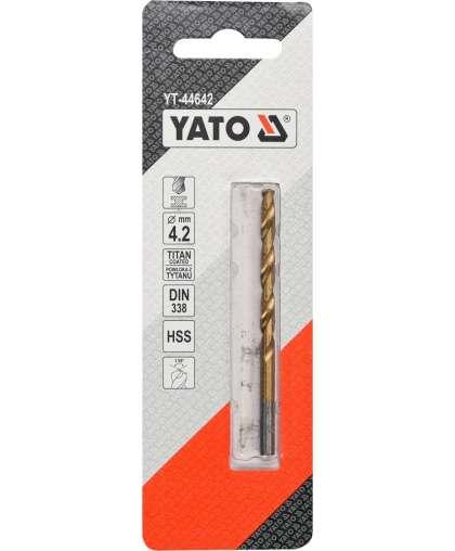 YT-44642Сверло по металлу HSS-TiN  4,2мм