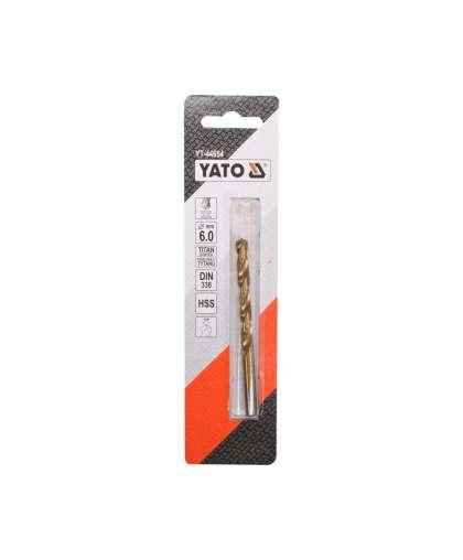 YT-44654 Сверло по метал. HSS-TiN 6,0мм