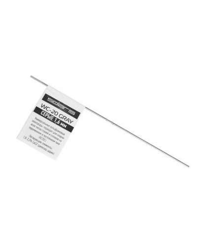 Электрод вольфрамовый серый SOLARIS WC-20, Ф1.6мм, TIG сварка, WM-WC20-1601