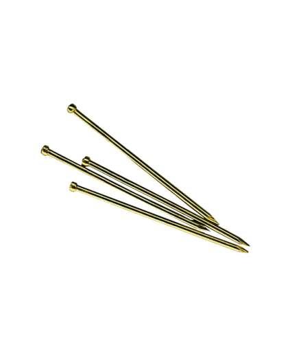 Гвозди финишные 1.6х40 мм латунь (0.2 кг в пласт. конт.) арт.SMP1-103661-02, STARFIX