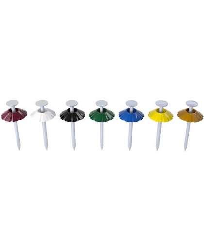 Гвозди декоративные 1.8х32 мм коричневая шляпка (100 шт в зип-локе) Starfix Smz1-30419-100