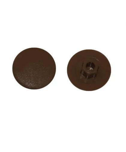 Заглушка для конфирмата, декоративная темно-коричневая (50 шт в зип-локе) SMZ1-43588-50