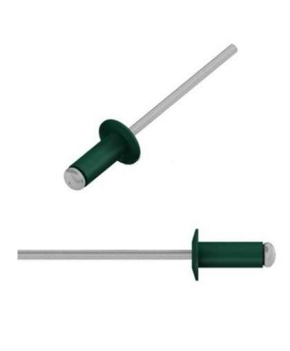 Заклепка вытяжная 4*10 мм алюминий-сталь, RAL 6005, 200 шт., SMP2-76497, STARFIX