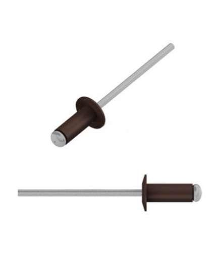 Заклепка вытяжная 4*10 мм алюминий-сталь, RAL 8017, SMP2-60053-50, STARFIX