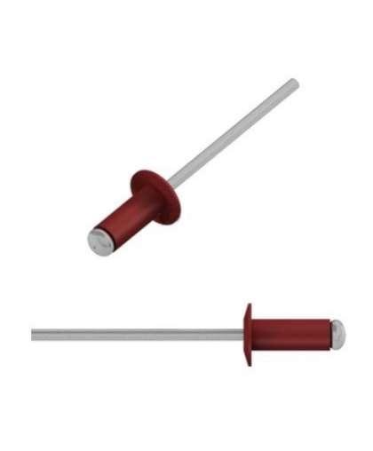 Заклепка вытяжная 4,8*12 мм алюминий-сталь, RAL 3011,  25 шт в зип-локе, SMZ1-50190-25, STARFIX