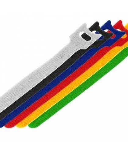 Набор хомутов многоразовых на липучке 310 x 16 мм, цветная (упак. 12 шт)  REXANT 07-7310