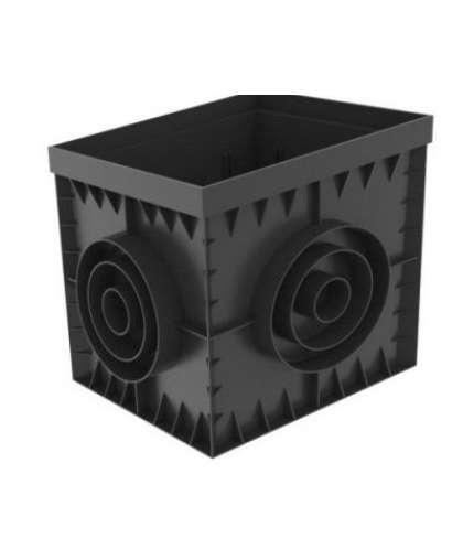 ДождеприемникPolyMax Basic ДП–30.30.30-ПП пластиковый черный 8370-М