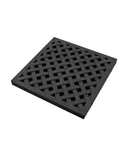 Решетка пластиковая усиленная к дождеприемнику черная