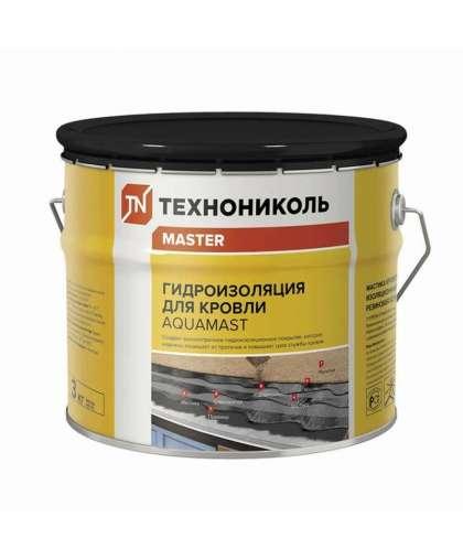 Мастика гидроизоляционная AquaMast битумно-резиновая холодная 3 кг, Технониколь