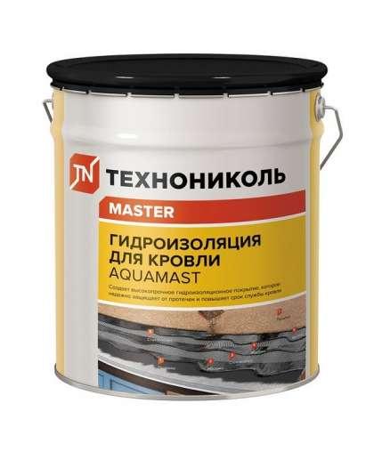 Мастика гидроизоляционная AquMast битумно-резиновая холодная 18 кг, ТехноНИКОЛЬ