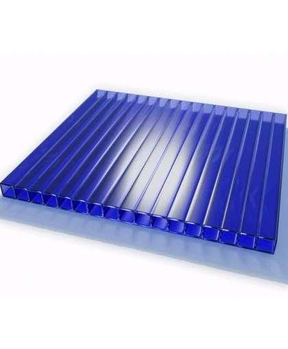 Сотовый поликарбонат 4 мм синий, Сибирские теплицы