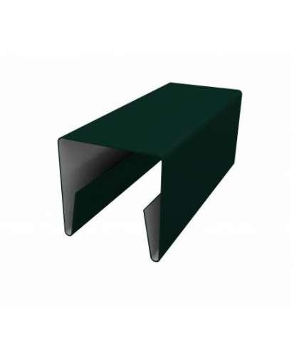 Планка П-образная 20*20*20-КИ 2000/0,45-О-Пэ-С СТБ 1382-2003 6005 зеленый, Металл Профиль