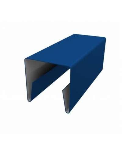 Планка П-образная 20*20*20-КИ 2000/0,45-О-Пэ-С СТБ 1382-2003 5005 синий, Металл Профиль