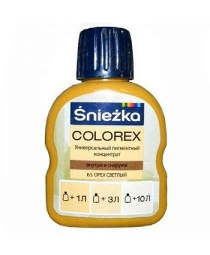 Пигментный концентрат универсальный Sniezka Colorex 63 Орех светлый 100 мл
