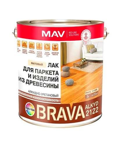 Лак MAV Brava Alkyd 2122 для паркета и изделий из древесины 0.9 л матовый