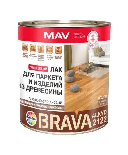 Лак MAV Brava Alkyd 2122 для паркета и изделий из древесины 0.9 л глянцевый