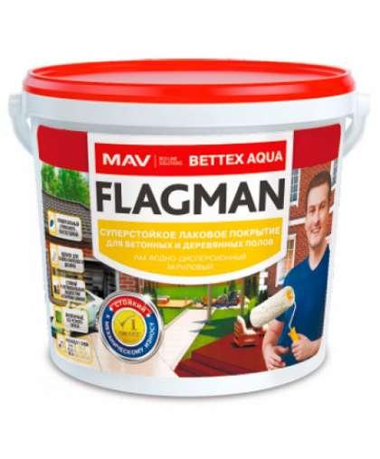 Лак MAV Flagman Bettex Aqua для бетонных и деревянных полов 1 л полуглянцевый