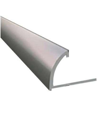 Профиль наружный РП-АКП-09 12 мм анодированный серебро матовый 2.7 м
