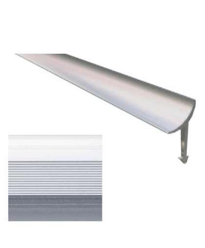 Профиль внутренний РП-АКП-08 6 мм анодированный серебро матовый 2.7 м