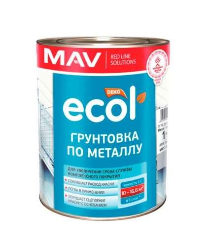 Грунтовка MAV Ecol ГФ-021 по металлу красно-коричневый 1 л