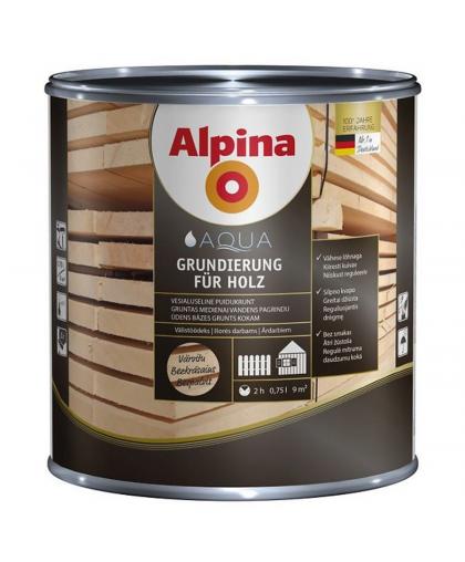 Грунтовка Alpina Grundierung für Holz по дереву 0.75 л
