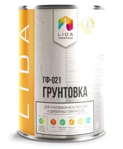 Грунтовка Lida ГФ-021 LIDA Коричневый 2 кг