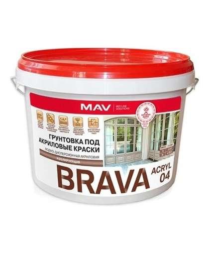 Грунтовка Mav Brava Acryl 04 ВД-АК-04 SP белый 3 л