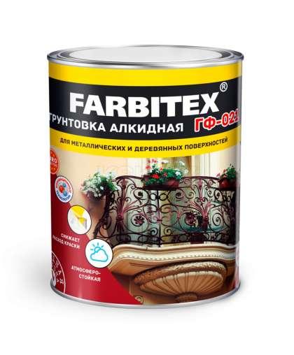 Грунтовка Farbitex ГФ-021 серая 1.8 кг