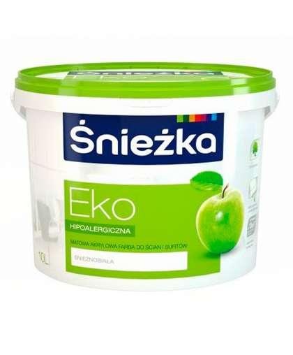 Краска Eco гипоаллергенная для стен и потолков 10 л, Sniezka