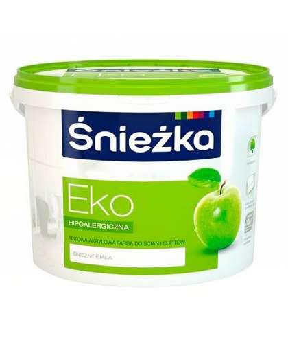 Краска Eco гипоаллергенная для стен и потолков 5 л, Sniezka