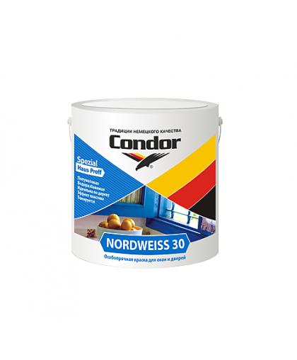 Краска Condor Nordweiss 30 для окон и дверей 0.85 кг Белый
