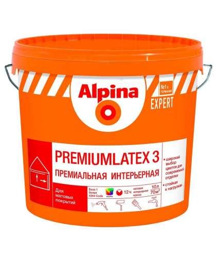 Краска Expert Premiumlatex 3 База 1 10 л, Alpina