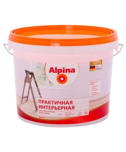 Краска Практичная интерьерная 5 л, Alpina