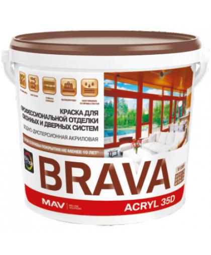 Краска MAV Brava Acryl 35D для окон и дверей 3 л Белая