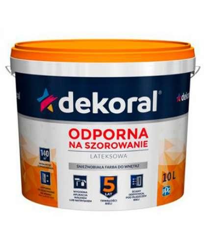 Краска Akrylit 10 л Снежно-белая, Dekoral