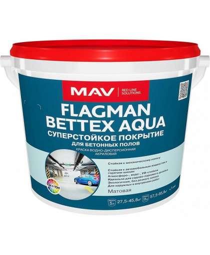 Краска Flagman Bettex Aqua 3 л для бетонных и деревянных полов белый, MAV