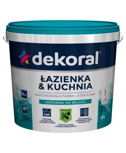 Краска Dekoral Maleinak Plus снежно-белая 5 л
