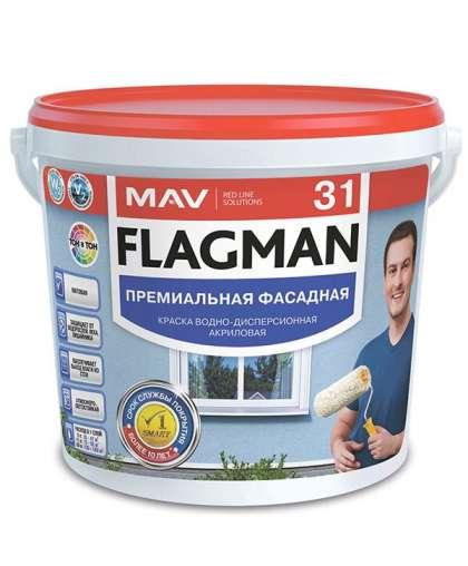 Краска Flagman 31 фасадная 1 л Белая, MAV