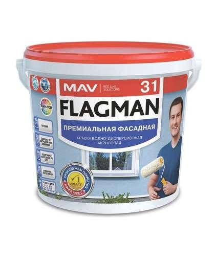 Краска Flagman 31 фасадная Белая 3 л, MAV