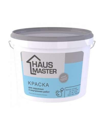 Краска HAUS MASTER для внутренних и наружных работ Белая 11 л, MAV