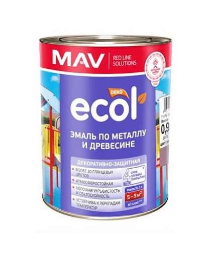 Эмаль Mav Ecol ПФ-115 1 л вишневая
