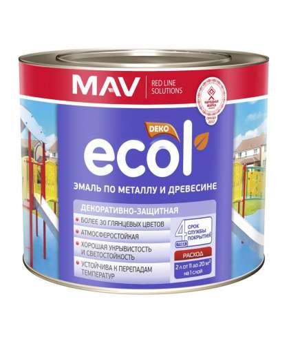 Эмаль Mav Ecol ПФ-115 2.4 л вишневая