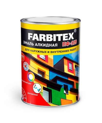 Эмаль Farbitex ПФ-115 0.8 кг Красный