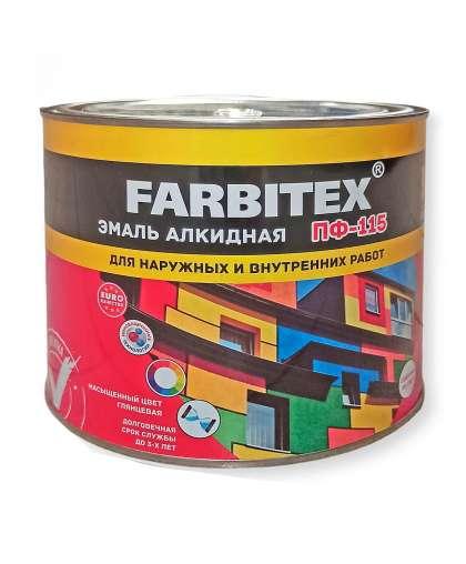 Эмаль Farbitex ПФ-115 1.8 кг Черный